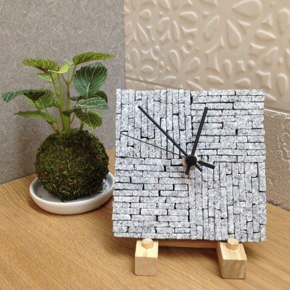 「庵治石の時計」がクールでおしゃれ!かわいい!